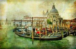 Schilder Venetië Stock Afbeelding