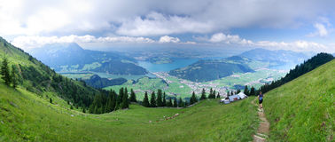 Schilderachtig Alpien landschap Stock Foto's