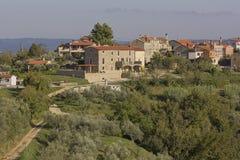 Schilderachtig beeld van Krasica in Istria, Kroatië royalty-vrije stock foto