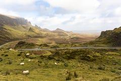 Schilderachtig dichtbijgelegen de winterlandschap in eiland van skye noordelijk Schotland het Verenigd Koninkrijk Europa stock foto's