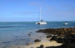 Schilderachtig gebied van canonniers van La Pointe aux in Mauritius Stock Afbeelding