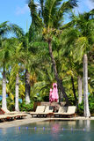 Schilderachtig gebied van La Pointe aux Canonniers in Mauritius Repu Royalty-vrije Stock Foto's