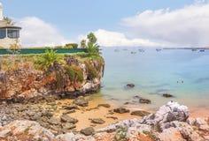 Schilderachtig landschap in Cascais portugal royalty-vrije stock foto's