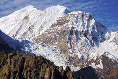Schilderachtig Nepalees landschap met gletsjer Royalty-vrije Stock Afbeelding