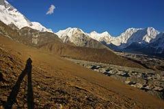 Schilderachtig Nepalees landschap met shedow royalty-vrije stock foto's
