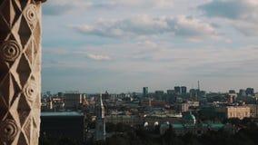 Schilderachtig panorama van Moskou op de zomerdag stock videobeelden