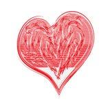 Schilderachtig Rood Hart vector illustratie