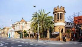 Schilderachtig soort Badalona. Barcelona Royalty-vrije Stock Foto