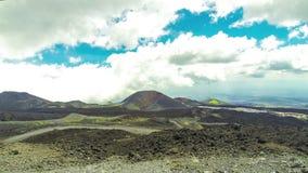 Schilderachtig vulkanisch landschap van Onderstel Etna, Sicilië, Italië stock videobeelden