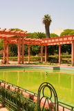 Schilderachtige Arabische tuin Stock Foto