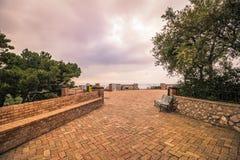 Schilderachtige Augustus tuiniert in Capri, Itali? stock foto's