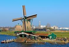 Schilderachtige bestaande molen Royalty-vrije Stock Foto's
