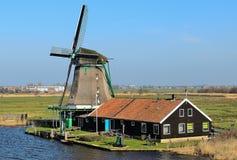 Schilderachtige bestaande molen Royalty-vrije Stock Afbeelding