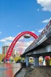 Schilderachtige brug Stock Foto