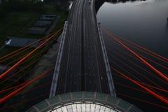 Schilderachtige brug in Moskou Stock Afbeeldingen