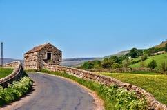 Schilderachtige Engelse landweg Royalty-vrije Stock Afbeelding
