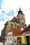 Schilderachtige gebouwen van Brasov-stad Transsylvanië Roemenië Royalty-vrije Stock Afbeelding