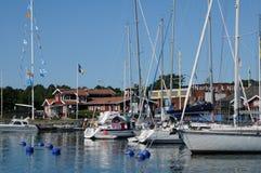 Schilderachtige haven van Nynashamn Stock Afbeelding