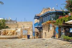 Schilderachtige hoek in Oude Jaffa, Tel Aviv royalty-vrije stock foto