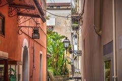 Schilderachtige hoek in wereldberoemd Sorrento stock foto's