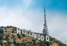 Schilderachtige Hollywood-Heuvels Beroemde toeristische attractie van Los Angeles, Californië, de V.S. royalty-vrije stock foto's