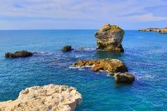 Schilderachtige kust Tyulenovo Bulgarije stock foto's
