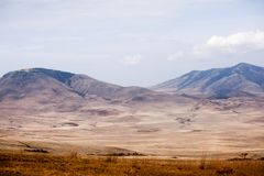 Schilderachtige mening aan het Nationale Park van Ngorongoro stock foto's
