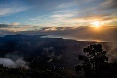 Schilderachtige mening van Spaanse groene heuvels Royalty-vrije Stock Fotografie