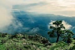 Schilderachtige mening van Spaanse groene heuvels Stock Foto's