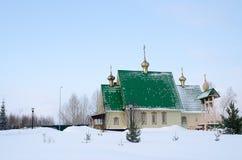 Schilderachtige Orthodoxe Kerk in Kemerovo, Siberië Royalty-vrije Stock Afbeelding