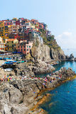 Schilderachtige stad Manarola in Cinque Terre, Italië Royalty-vrije Stock Afbeelding