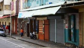 Schilderachtige stad van Haven Louis in Mauritius Republic Royalty-vrije Stock Foto