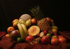 Schilderachtige stilllife van vruchten Stock Foto