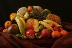 Schilderachtige stilllife van vruchten stock afbeeldingen