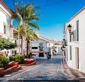 Schilderachtige straat van Rancho Domingo spanje stock fotografie