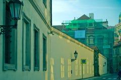 Schilderachtige straten van Europese steden Stock Foto