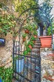 Schilderachtige trap in Toscanië royalty-vrije stock fotografie