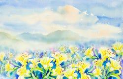 Schilderen kleurrijk van de leliebloemen van het schoonheidsboeket Royalty-vrije Stock Fotografie