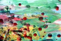 Schilderend abstract achtergrond en patroon met wasachtige vlekken Stock Fotografie