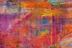 Schilderend Artistiek helder de textuur abstract kunstwerk van kleurenolieverven Modern futuristisch patroon voor grungebehang Royalty-vrije Stock Fotografie