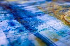 Schilderend Artistiek helder de textuur abstract kunstwerk van kleurenolieverven Modern futuristisch patroon voor grungebehang Royalty-vrije Stock Foto's