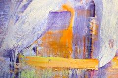 Schilderend Artistiek helder de textuur abstract kunstwerk van kleurenolieverven Modern futuristisch patroon voor grungebehang Stock Foto's