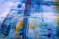 Schilderend Artistiek helder de textuur abstract kunstwerk van kleurenolieverven Modern futuristisch patroon voor grungebehang Stock Fotografie