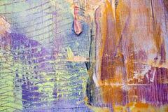 Schilderend Artistiek helder de textuur abstract kunstwerk van kleurenolieverven Modern futuristisch patroon voor grungebehang Royalty-vrije Stock Afbeeldingen