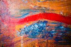 Schilderend Artistiek helder de textuur abstract kunstwerk van kleurenolieverven Modern futuristisch patroon voor grungebehang Stock Afbeeldingen