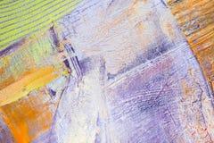 Schilderend Artistiek helder de textuur abstract kunstwerk van kleurenolieverven Modern futuristisch patroon voor grungebehang Royalty-vrije Stock Afbeelding