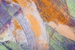 Schilderend Artistiek helder de textuur abstract kunstwerk van kleurenolieverven Modern futuristisch patroon voor grungebehang Stock Afbeelding