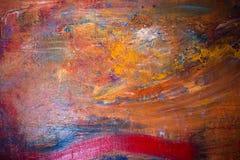 Schilderend Artistiek helder de textuur abstract kunstwerk van kleurenolieverven Modern futuristisch patroon voor grungebehang Stock Foto