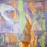 Schilderend Artistiek helder de textuur abstract kunstwerk van kleurenolieverven Modern futuristisch patroon voor grungebehang Royalty-vrije Stock Foto
