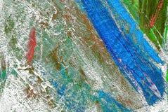 Schilderend door olie op een canvas, het schilderen Stock Afbeelding